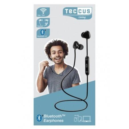 Auricular VIVANCO Boton Tecus SRAIR2 Negro