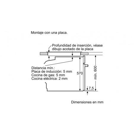 Horno Multifunción BALAY Serie Cristal 3CB5351N0 Compacto A