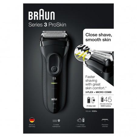 Afeitadora BRAUN 3020s Serie 3 ProSkin