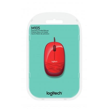 Ratón LOGITECH M105 rojo
