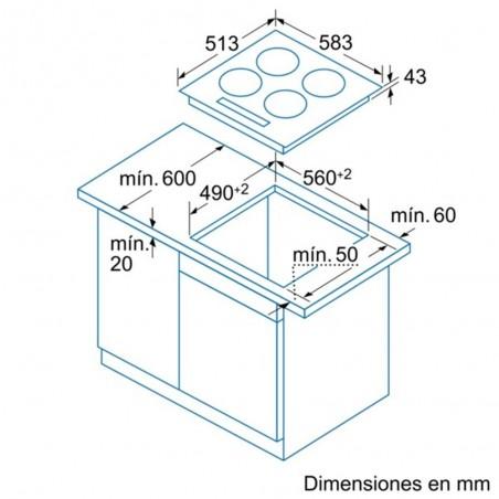 Encimera vitrocerámica BALAY 3EB720XR 60cm