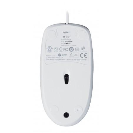 Ratón LOGITECH M100 ambidextro bl