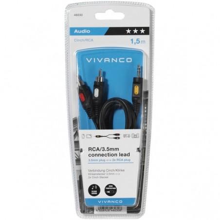 Cable VIVANCO 1.5M 3.5MM 2XRCA 46030