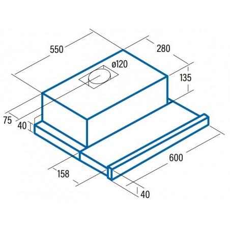 Campana extractora CATA TF 5260 X