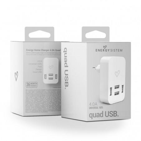 Cargador energy sistem quad USB
