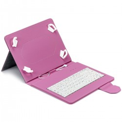 Funda universal tablet teclado MAILLON URBAN rosa