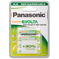 Pack 4 pilas PANASONIC recargables