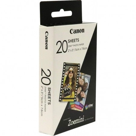 Pack 20 hojas CANON papel zink ZP-2030 z