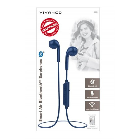 Auricular VIVANCO bt azul 38910