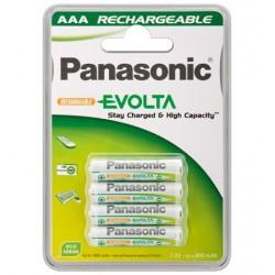 Pack 4 pilas PANASONIC AAA mínimo 750 ma