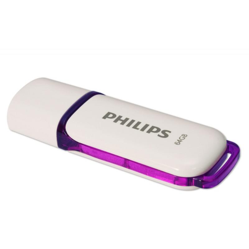Memoria USB PHILIPS snow 64GB blanco 2.0