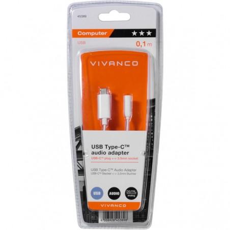 Cable VIVANCO USB tipo c - audio jack 3.