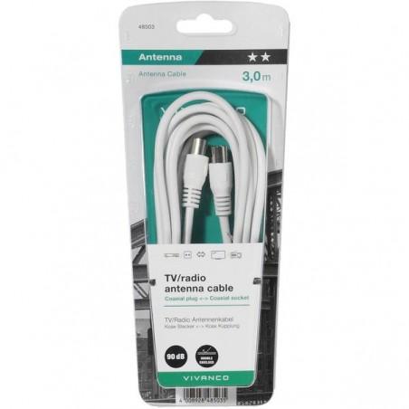 Cable VIVANCO 90DB bl 5M 48504