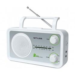 Radio portátil muse M-06SW blanco plata