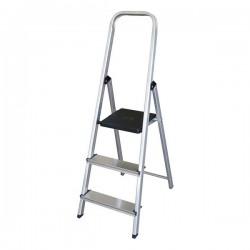 Escalera plegable de 3 peldaños aluminio