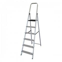Escalera plegable de 6 peldaños