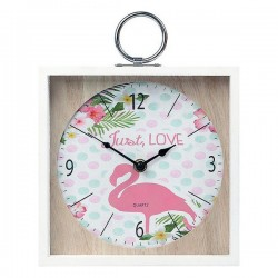 Reloj de pared flamenco rosa (20 x 5 x 2