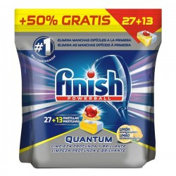 Pastillas para lavavajillas FINISH Quantum lemon 27+13 dosis