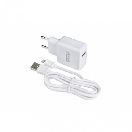 Cargador USB DCU 5V 2.4A+LIGHTNING 1M