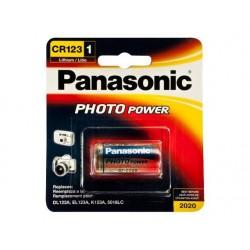 Pila foto litio PANASONIC CR123