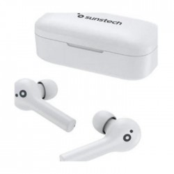 Auricular SUNSTECH wavepods touch white