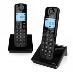 Teléfono dect ALCATEL S250 duo negro
