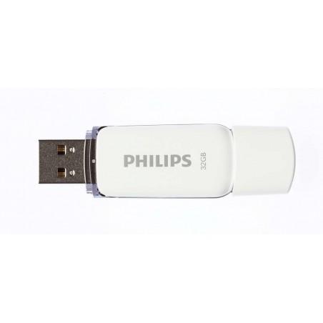Memoria USB PHILIPS snow 32GB blanco 2.0