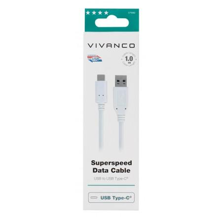 Cable VIVANCO USB a 3.1 - USB tipo c 1M