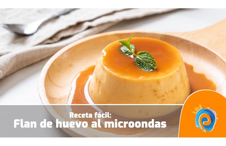 Receta fácil: flan de huevo en el microondas