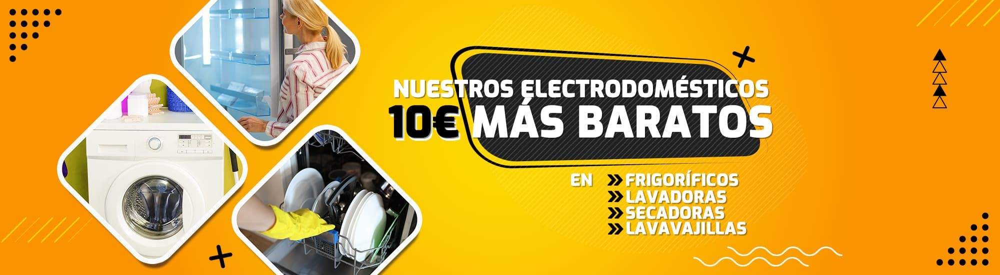 10 euros de descuento en grandes electrodomésticos